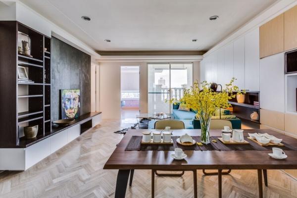 Căn hộ 60m² thiết kế lưu trữ thông minh cho gia đình 3 người